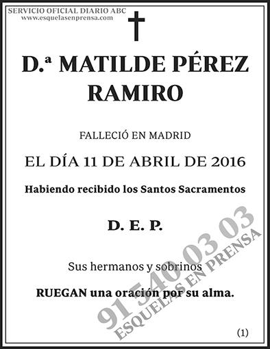 Matilde Pérez Ramiro